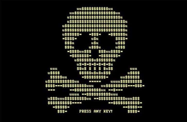 goldeneye ransomware skull