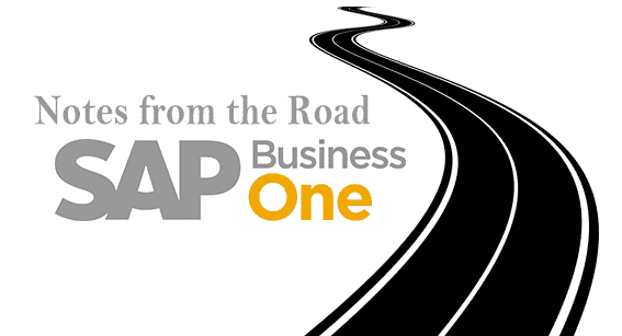 SAP Business One Notes from the road 2
