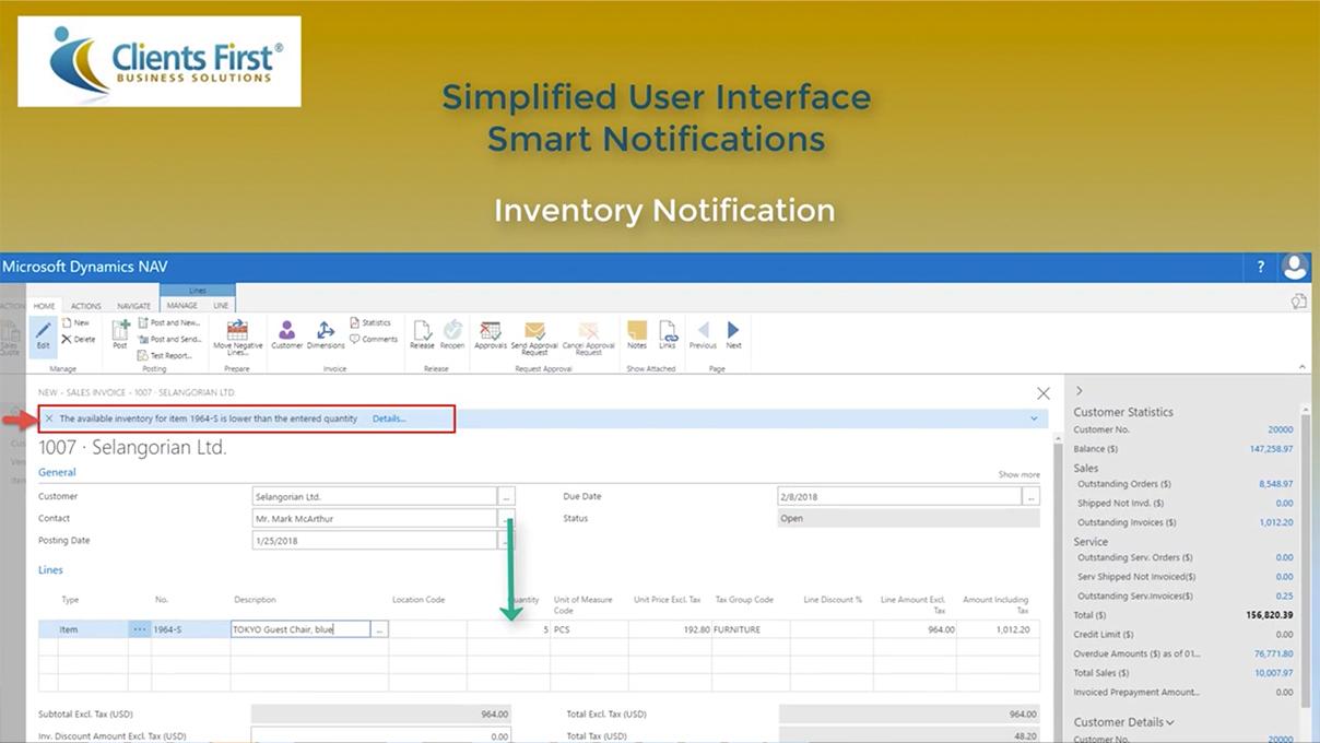 Screenshot_Dynamics NAV 2017 Simplified User Interface