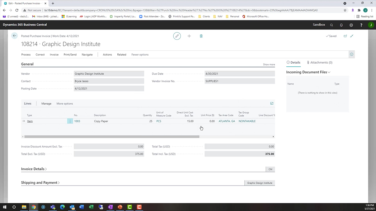 Screenshot_How to Purchase a Resource in Business Central